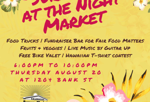 Join Me at Kalamazoo Farmers Market Night Market #2 – Thursday August 20 – 6:00pm